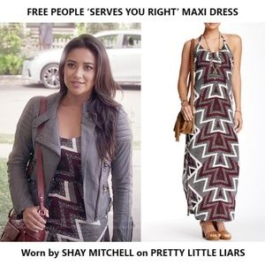 Free People Serves You Right T-back Maxi Dress